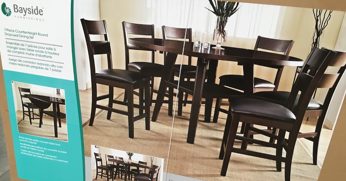 furnishings 7 piece square to round dining set costco weekender