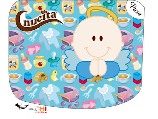 Angel Boy Free Printable Nucita Candy Bar Labels.