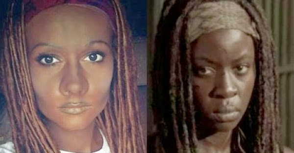 "cosplayer is called ""racist"" for using blackface makeup on her Walking Dead costume"
