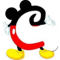 Original alfabeto inspirado en Mickey Mouse C.
