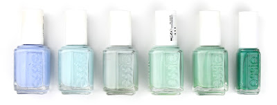 Essie nail polish varnish bikini so teeny mint candy apple who is the boss fashion playground turquoise & caicos ruffles and feathers
