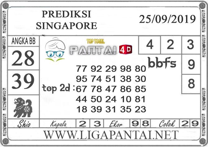 "PREDIKSI TOGEL ""SINGAPORE"" PANTAI4D 25 SEPTEMBER 2019"