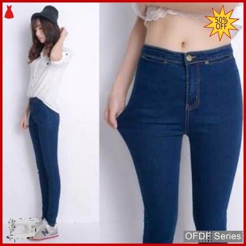 OFDF193 Celana Basic Jeans Highwaist Navy Premium BMGShop