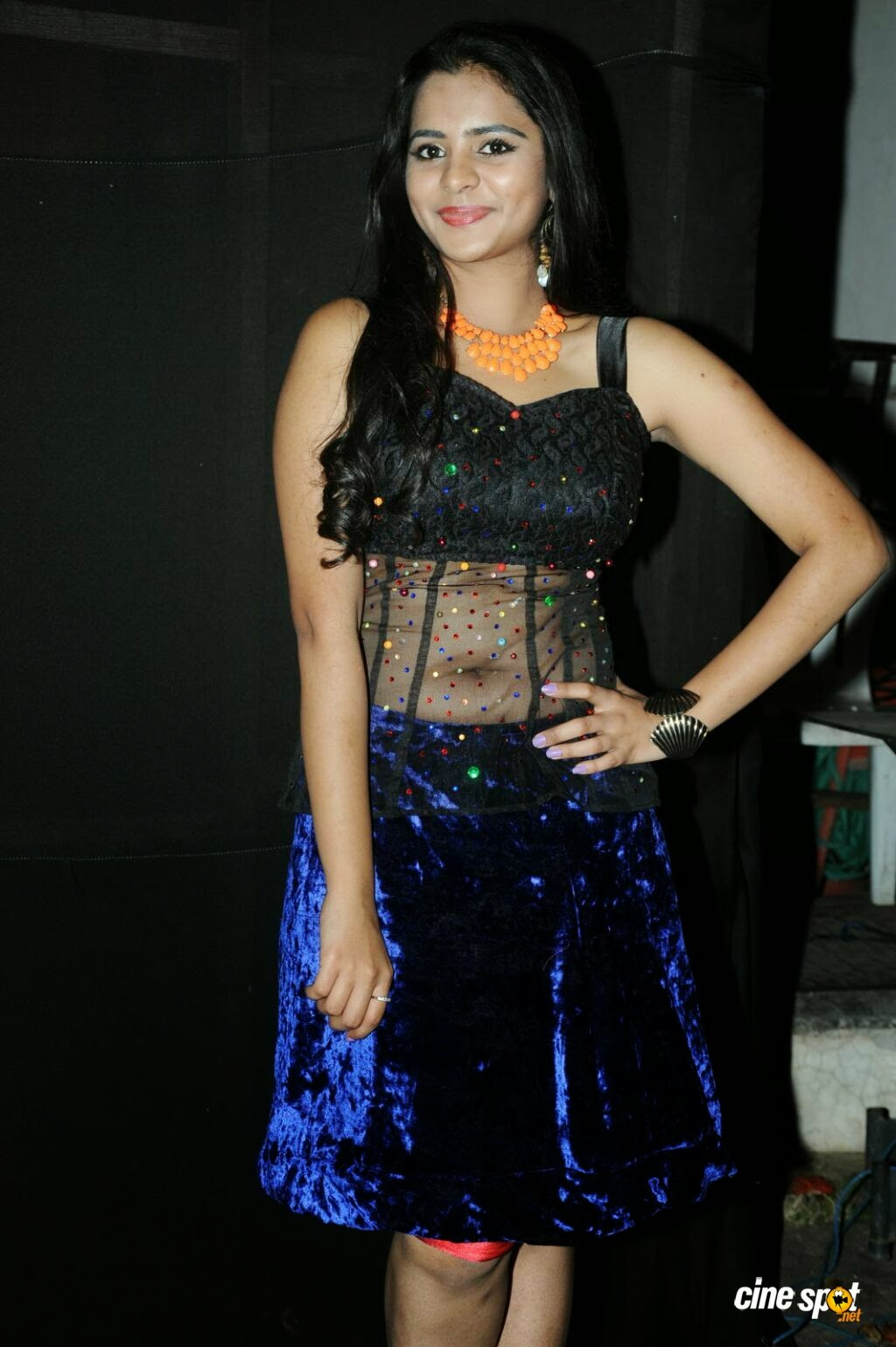 Actress Manasa Hot Deep Navel Photos Hot Photoshoot -8791