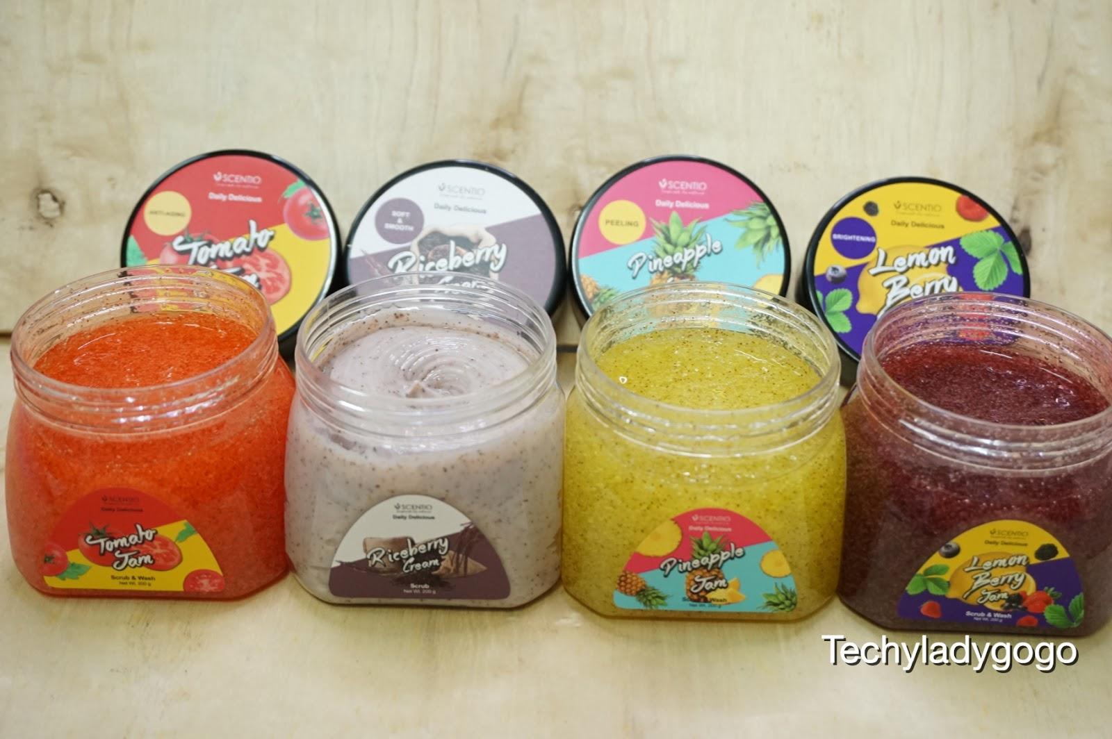 รีวิว SCENTIO DAILY DELICIOUS JAM SCRUB & WASH เจลอาบน้ำขัดผิว 4 สูตรน่าใช้ น่ากินจาก BEAUTY BUFFET
