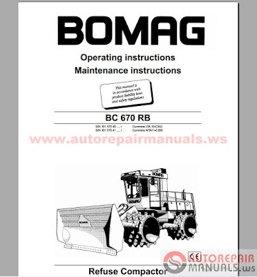 Free Auto Repair Manual : BOMAG Full Set Service Manuals