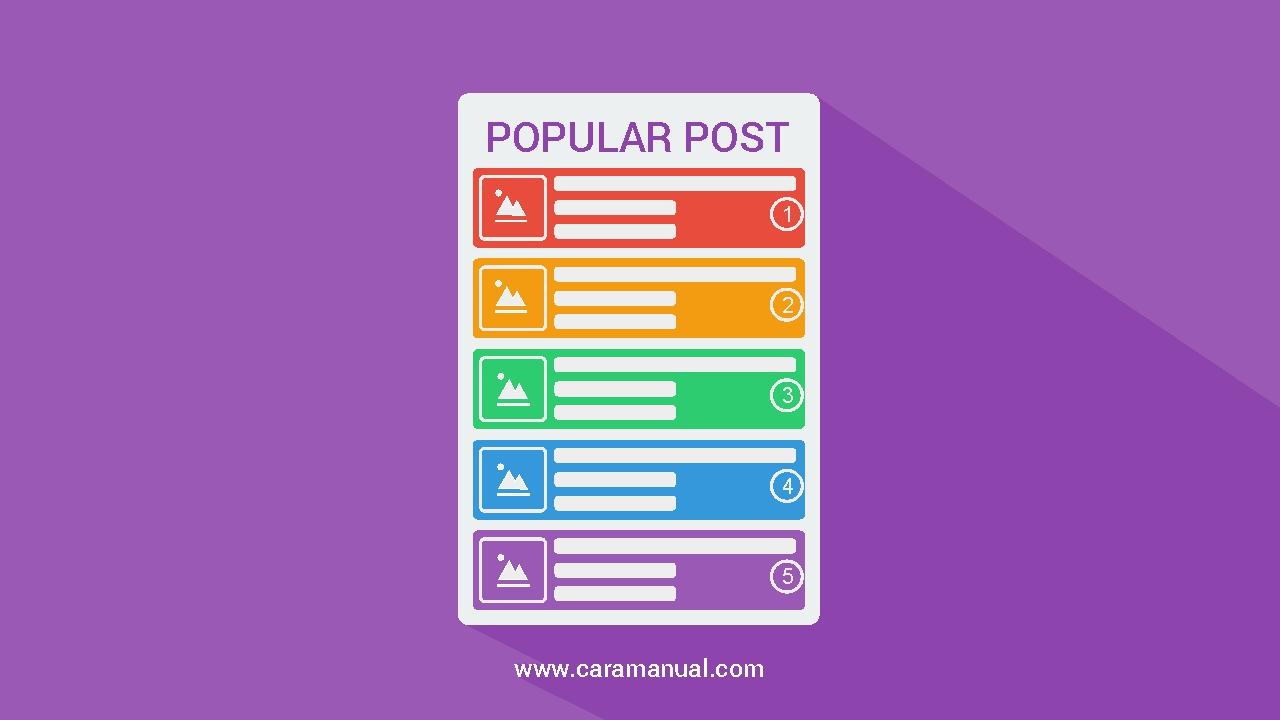 Cara Membuat Widget Popular Post Keren Warna Warni di Blog