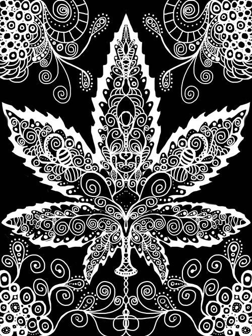 Tattoo desenhos e muito mais cannabis tattoo ideias de tatuagem - Coloriage feuille de cannabis ...