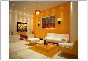 perpaduan warna cat ruang tamu menurut feng shui kuning