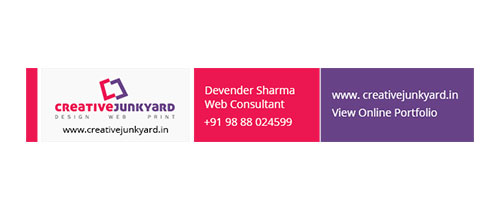 Email Signature Design | Freelance web designer Chandigarh, India
