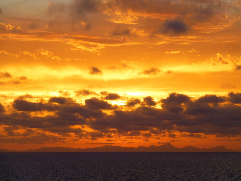 Puesta de Sol desde Cova de Xoroi
