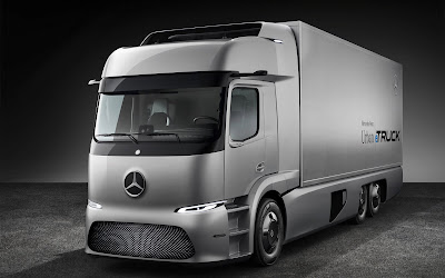 mercedese benz urban etruck widescreen hd wallpaper