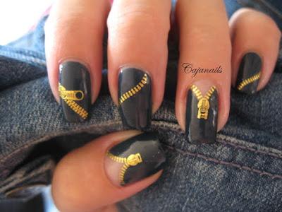 Modelos de uñas con cierre diseño muy original.