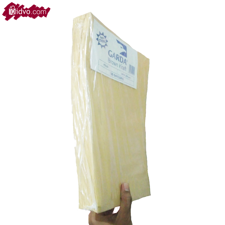 Amplop Coklat Ukuran A4 (21,5 x 30Cm) untuk packing Pengiriman |100 Lembar/Pak