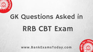 GK Questions Asked in RRB