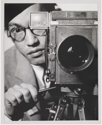 "An image of photographer Toyo Miyatake's ""Self-Portrait"" from 1932"