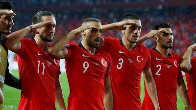 التفاصيل الكاملة, المنتخب التركى, كرة القدم, التحية العسكرية, الملعب, الفيفا, اداء المنتخب,