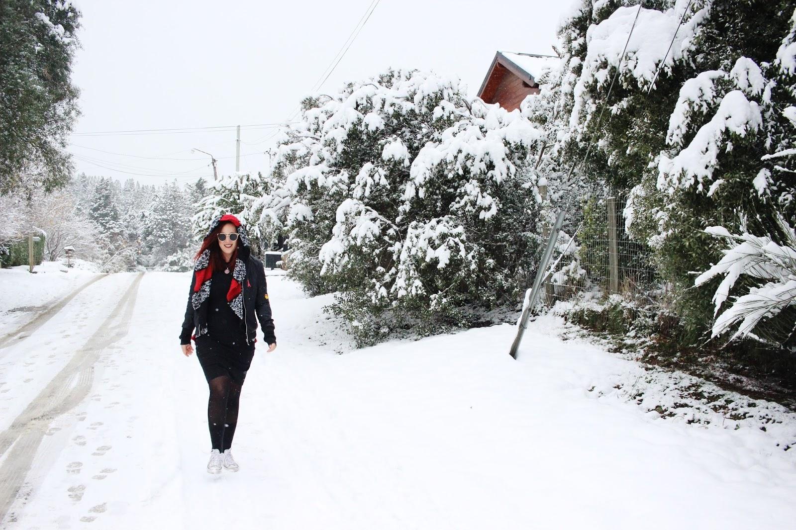 Nieve en Bariloche