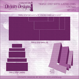 Divinity Designs LLC Custom Triple Step with Layers Dies