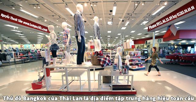 Thủ đô Bangkok của Thái Lan là địa điểm tập trung hàng hiệu toàn cầu