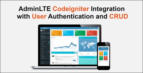 Codeigniter with AdminLTE Integration + Login Authentication + User CRUD Free Download