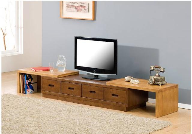 Thiết kế kệ tủ tivi phòng khách bằng gỗ trông thật nổi bật, sang trọng