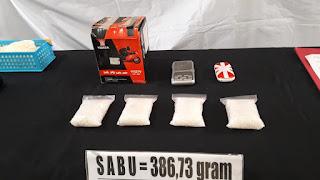 Memiliki Narkotika Jenis Sabu Seberat  386,73 gram, Seorang Lelaki Diciduk Polsek Cisauk