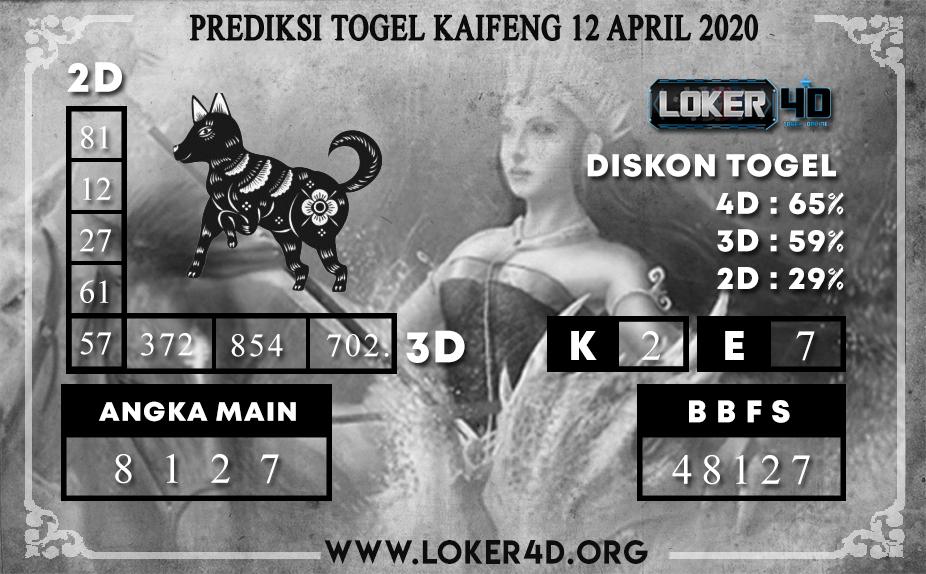 PREDIKSI TOGEL KAIFENG LOKER4D 12 APRIL 2020