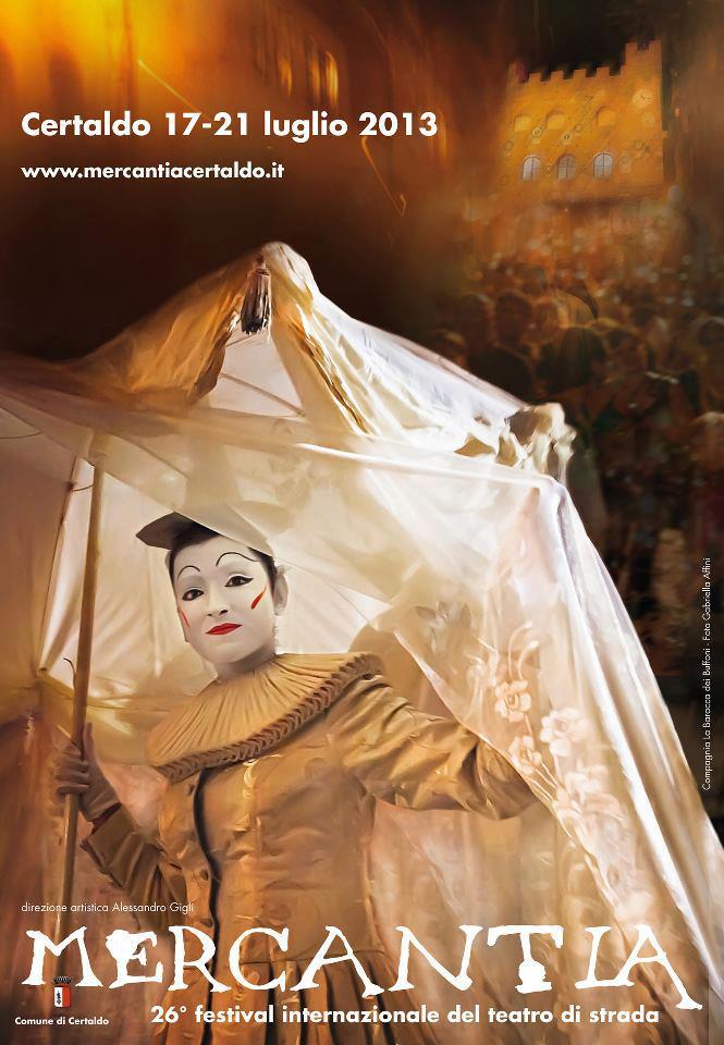 Mercantia street theatre festival at Certaldo, Tuscany