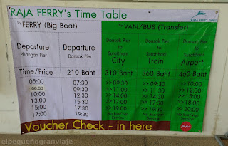 tarifa ferry ko pha ngan, ko sumai, ko tao, tailandia, islas