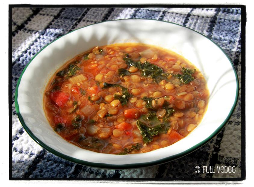 soupe aux lentilles et au chou kale full vedge recettes v g tariennes et gourmandes. Black Bedroom Furniture Sets. Home Design Ideas