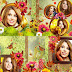 Autumn photo book template in Photoshop psd