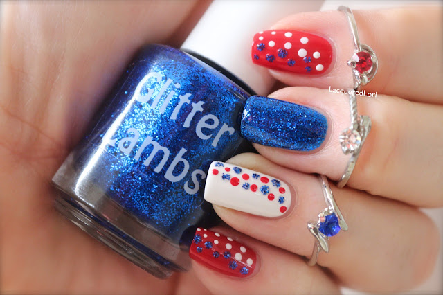 "Glitter Lambs ""Blue Bird In My Car""  Glitter Topper Nail Polish  Worn By @LacqueredLori"