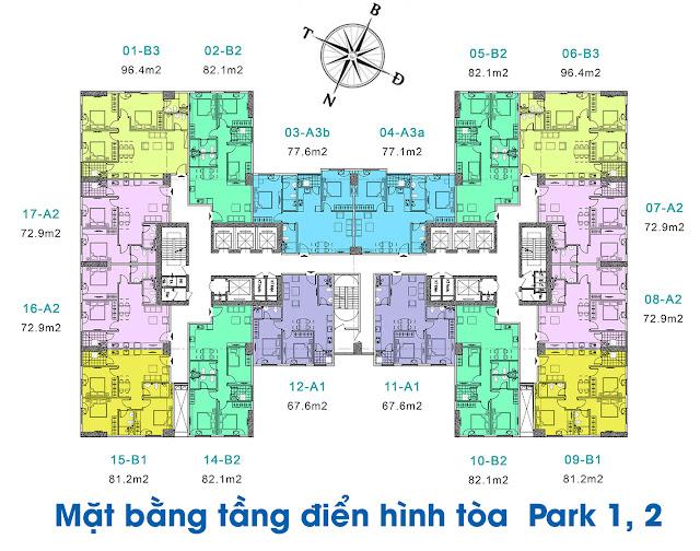 Thiết kế thông minh tại căn hộ EuroWindow River Park Đông Trù