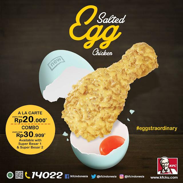 Promo KFC Terbaru Menu Baru Salted Egg Chicken Mulai Rp20.000