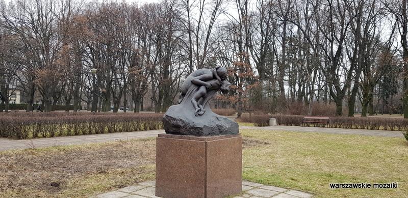 Warszawa Warsaw park Traugutta rzeźba brąz Wacław Szymanowski 1902 warszawskie rzeźby
