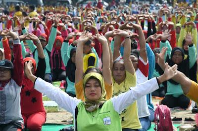 Festival Yoga Mengawali Kalender Event Wisata 2018 Lampung Timur