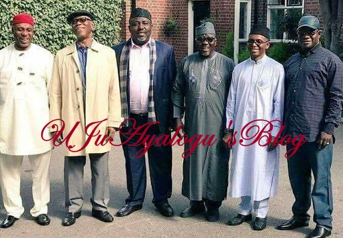More Photos Of APC Govs Who Visited Buhari In UK ...No Southwest Governor Made The Trip