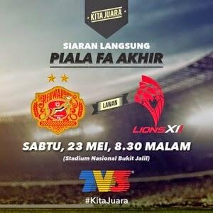 Kelantan Vs Lions XII Final Piala FA Mei Kafe Que Vs