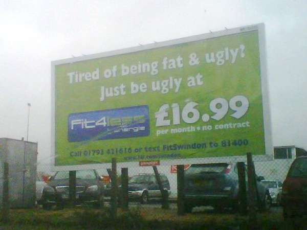 Funny Health and Fitness Sign