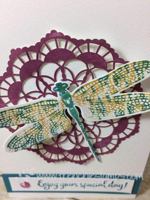 Dragonfly Dreams, Thumping Technique, Stampin'Up!, Note Cards, #Dragonfly Dreams, #Thumping Technique, #Stampin'Up!, #Note Cards