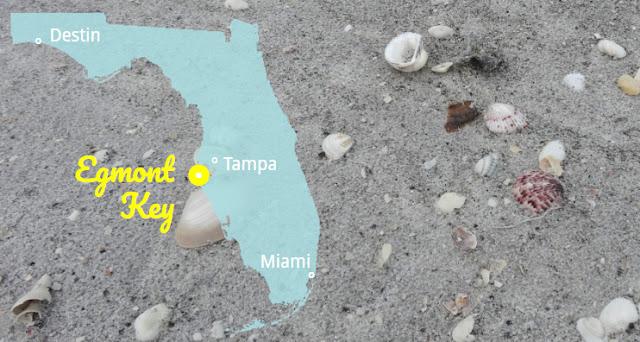 Egmont Key in Muschelstrände Florida's, Florida USA