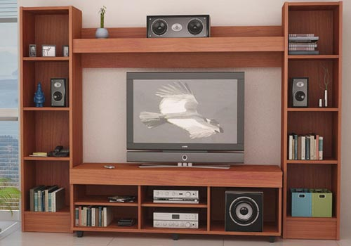 Muebles para tv tipo biblioteca for Muebles tv originales