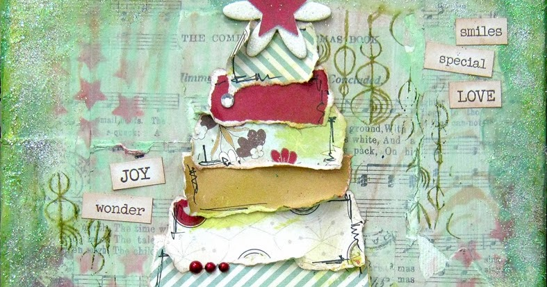 Scrappin It Christmas Mixed Media Canvas