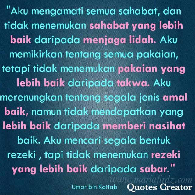Islamic Quote #5: Yang Terbaik Daripada Yang Baik!