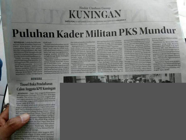 Puluhan Kader Militan PKS Mundur Massal