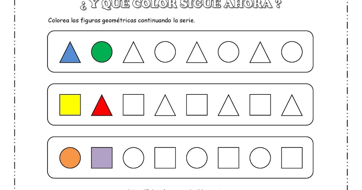 Pagina Para Colorear De Preescolar En Color Para Con: FICHAS DE EDUCACIÓN PREESCOLAR: ¿Y QUÉ COLOR SIGUE AHORA