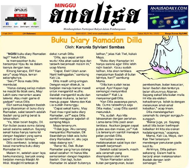 dimuat di Harian Analisa Medan edisi Minggu, 05 Juli 2015