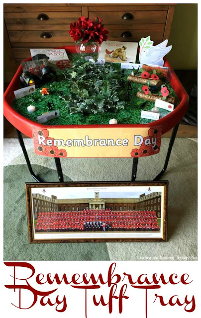 Remembrance Day Tuff Tray