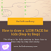 How to draw a FACE of LION for kids (Step by Step):